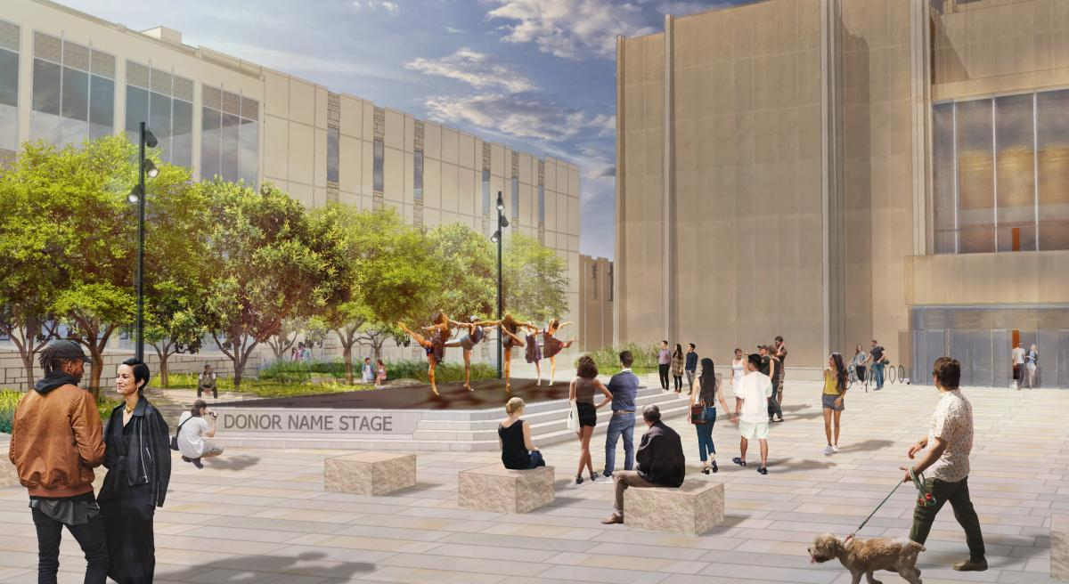 Clowes Hall plaza rendering