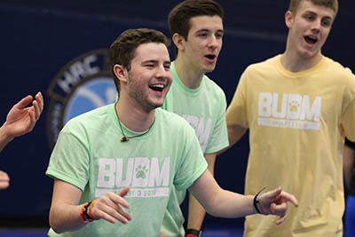 Greek Students Participating in Butler's Dance Marathon