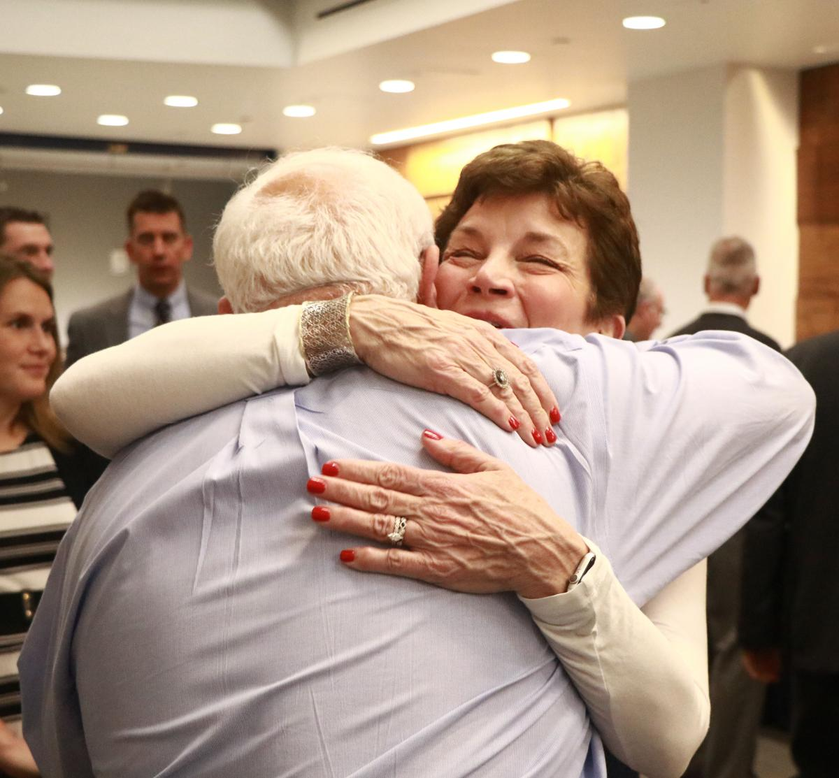 Dick Fetter embraces donor