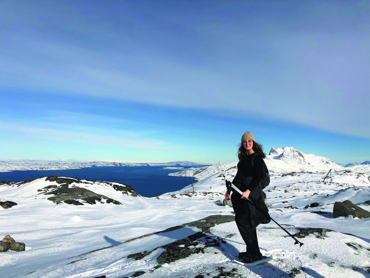 Grace Hart in Iceland