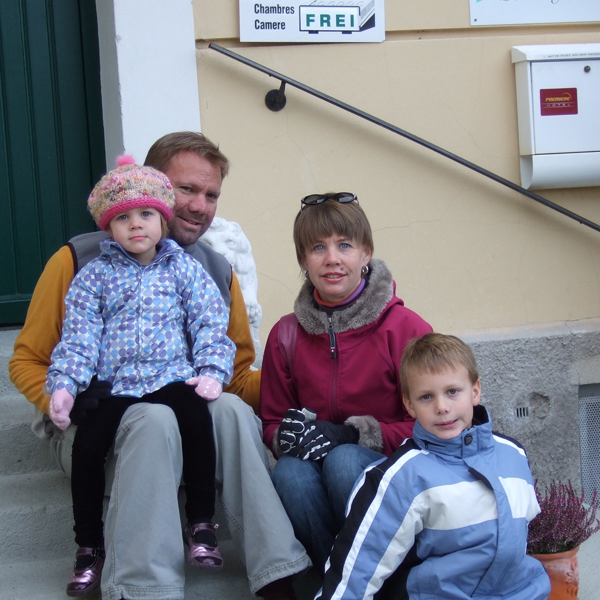 Trent with his family on a trip to Germany in 2008.