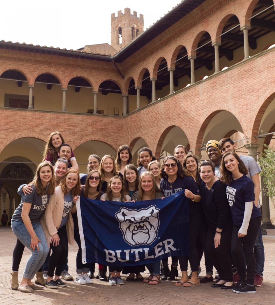Students in the GALA program in Siena, Italy.